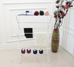 Clothes Drying Rack White Laundry Hanger Indoor Outdoor Drye