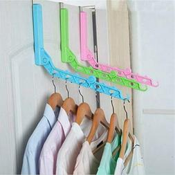 Clothes Hanger Foldable Door Hanging Rack Drying Rack 5 Hole