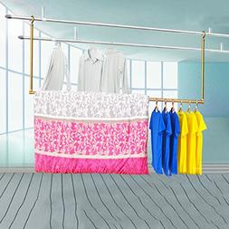 Clothesline,fold stretch Clothes drying rods Bask in quilt A