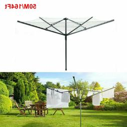 Clothesline Outdoor Rotary Dryer Foldable Umbrella Hanger Dr