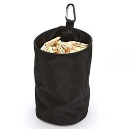 VEAMOR Clothespins Bag Hanging Clothesline Peg Organizer Sto