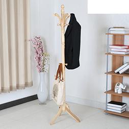 Coat rack,Floor solid wood bedroom hanger hall european crea