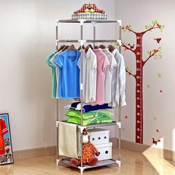 Coat Rack Clothing Storage Rack Closet Wardrobe Hanger Cloth