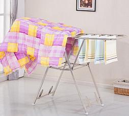 AIDELAI Coat Rack Drying Racks Folding Clothes Racks Stainle