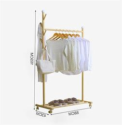 AIDELAI Coat Rack Drying Racks with Casters,Metal Clothes/Ha