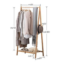 Wall CR Coat Racks clothes stand bamboo bedroom drying wood