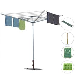 Drynatural Collapsible 4-arm Rotary Outdoor Umbrella Drying