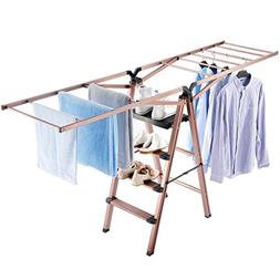 Rackaphile Clothes Drying Rack, 2 in 1 Laundry Drying Rack S
