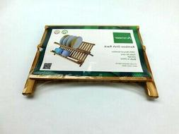 Artmeer Collapsible Bamboo Dish Rack, Holding Plate Holder,