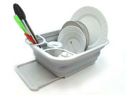 SAMMART Collapsible Dish Drainer with Drainer Board - Foldab