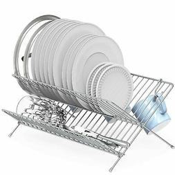 Simple Houseware Collapsible Dish Drying Rack, Chrome