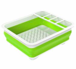 Nuovoware Collapsible Dish Drying Rack Kitchenware Drainer C