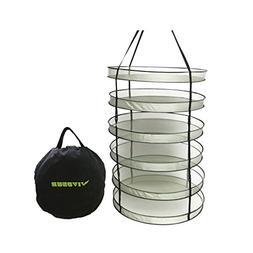 VIVOSUN 2 FT 6 Layer Collapsible Dry Net Hydroponic Detachab