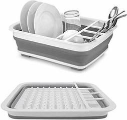 collapsible drying dish storage rack dish drainer