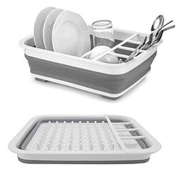 Collapsible Drying Dish Storage Rack Portable Dinnerware Org