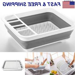 Kitchen Collapsible Folding Caravan Dish Drainer Camping Dry