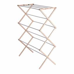 Collapsible Folding Wooden Clothes Drying Rack Laundry Pre A