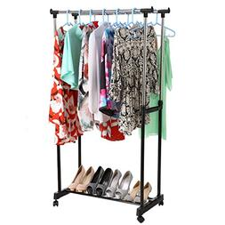 Pagacat Collapsible Laundry Drying Rack, Double Rail Adjusta
