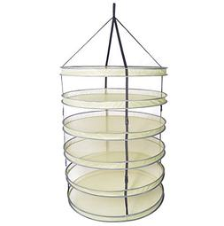 A1KINGDOM 3ft 6 Layer Collapsible Mesh Hanging Hydroponic Pl