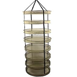 Casolly 3-Ft 8-Layer Collapsible Mesh Hydroponic Drying Rack