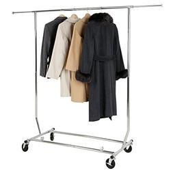 YP Collapsible Clothing Rack Commercial Grade Single Rail