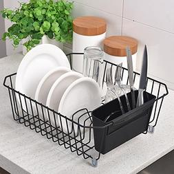 IKEBANA Commercial Small Wire Dish Drainer Drying Rack, Kitc