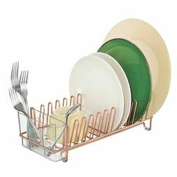 mDesign Compact Countertop, Sink Dish Drying Rack Caddy - Co