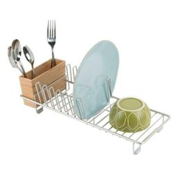 mDesign Compact Modern Kitchen Countertop, Sink Dish Drying
