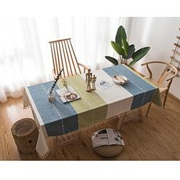 MEMORECOOL LIGHT UP YOUR HOME Cotton Linen Stitching Blue Wh