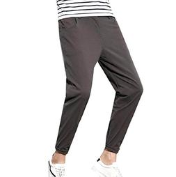 SportsX Men Cotton Stretch Casual Solid Oversized Straight L