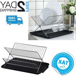 Countertop Dish Drying Rack Small Compact Kitchen Drainer Dr