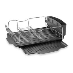 Polder Countertop Dish Drying Rack System 4-Piece Stainless