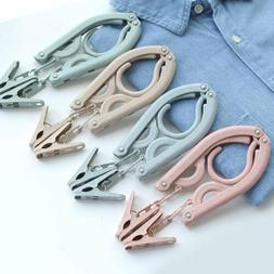 Creative Wheat Straw Clothes Hangers Foldable Portable Cloth