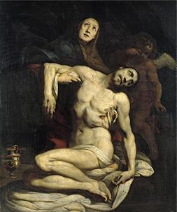 'Crespi Daniele Pieta Ca. 1626 ' Oil Painting, 10 X 12 Inch