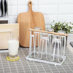 Cup Drying Rack Stand Mug Metal Drainer Holder Organizer wit