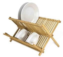 Home Basics DD01018 Dish Drainer Foldable Bamboo,