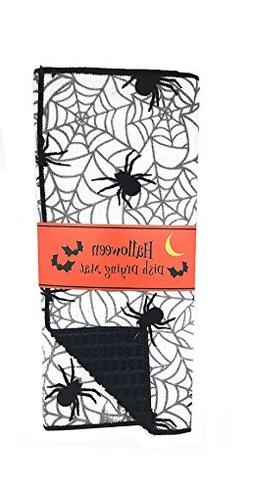 Decorative Halloween Black and White Spider and Web Reversib