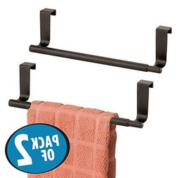 mDesign Decorative Kitchen Over Cabinet Expandable Towel Bar