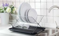 Deluxe Chrome-plated Steel Foldable X Shape 2-tier Shelf Sma