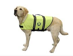 Paws Aboard Designer Doggy Life Jacket, Neon Yellow, X-Large