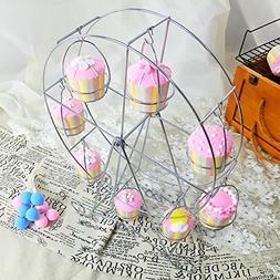 Desserts display rack Ferris wheel Paper cup Cake stand Iron