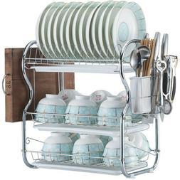 Dish Drainer Drying Rack 2 Or3 Tier Stainless Steel Kitchen