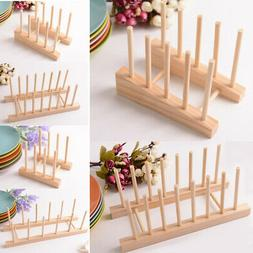 Bamboo Wood Plates / Pots / Pans / Dish Drying Rack Drainer