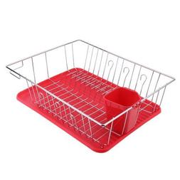 Dish Drainer Rack Antimicrobial Kitchen Sink for Drying Glas