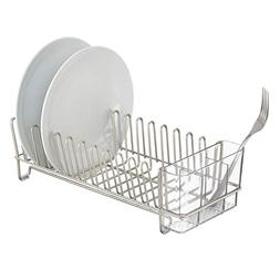 Dish Drainer Rack Compact Kitchen Drying Glasses Bowls,Count