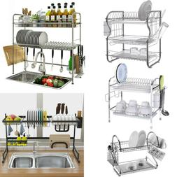 Dish Drainer Rack Over Sink Holder Drying Kitchen Organizer