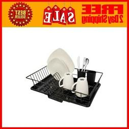 Sweet Home Collection 3 Piece Dish Drainer Rack Set Includes