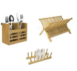 dish drainer rack set of bamboo kitchen