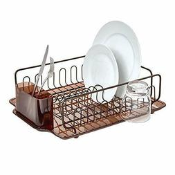 Dish Drainer Tray Rack Kitchen Drying Holder Organizer Stain