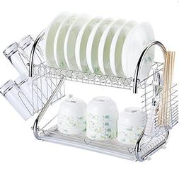 Dish Dryer Rack Drying Holder Kitchen Storage Tiers Drainer